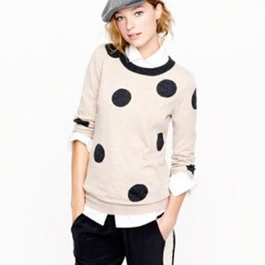 💕🌵J. Crew Merino Wool Polka Dot Sweater Medium